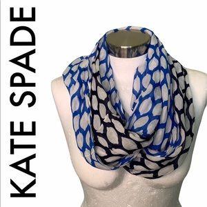 KATE SPADE BLUE WHITE INFINITY SCARF